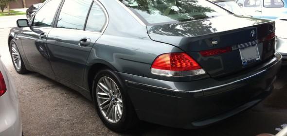 BMW E65 Parking Brake Repair
